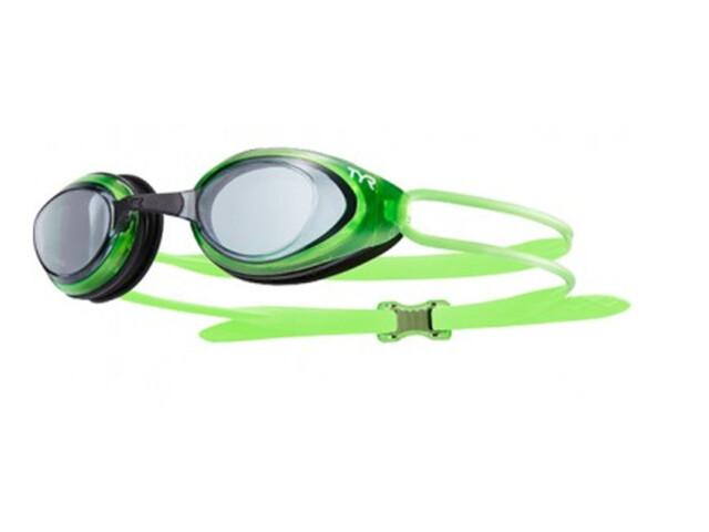 TYR Blackhawk Racing Goggles Herren smoke/fluo green/blue